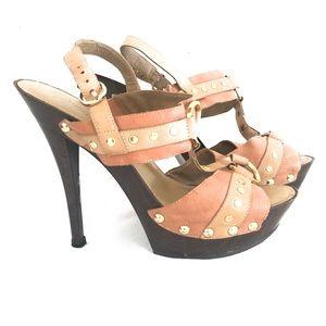 Jessica Simpson Platform stilettos High Leather